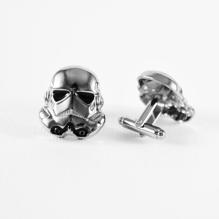 Stormtrooper Cufflinks Most Unique Cufflinks - Stormtrooper Cufflinks - ELBOTIK.com