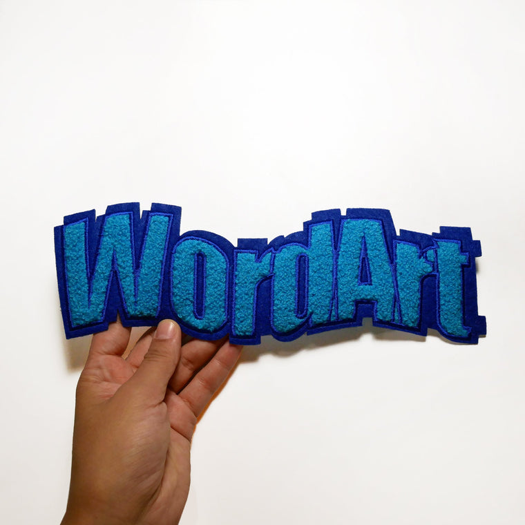 WORDART CHENILLE PATCH