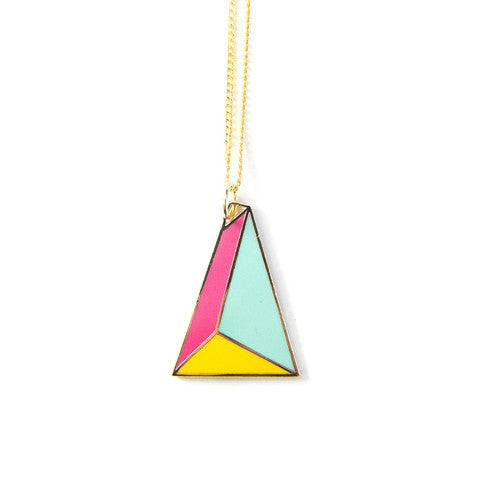 PYRAMID ENAMEL NECKLACE