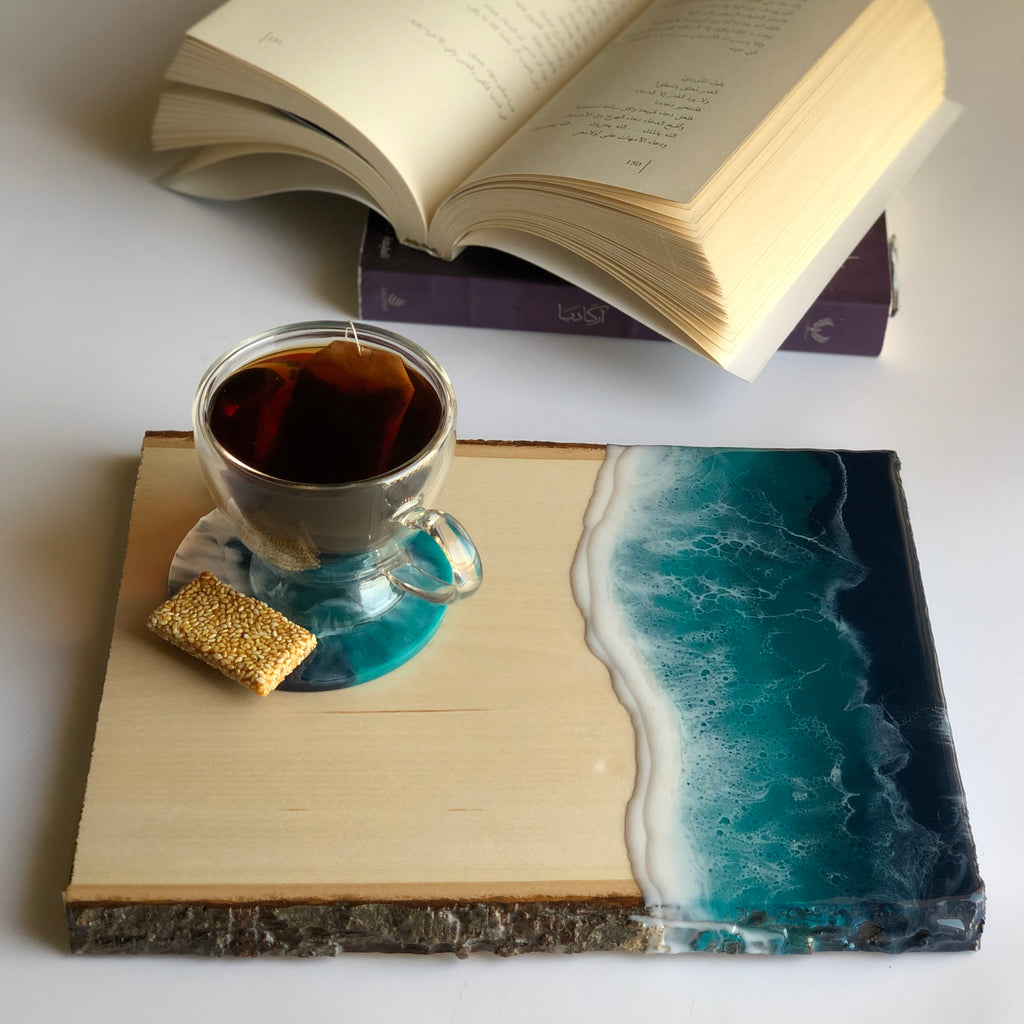 Ocean Tray with one coaster