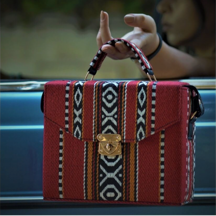 Bedouin Style Box Bag Red