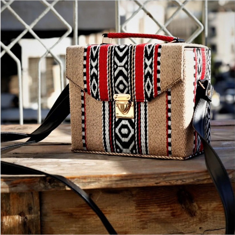 Bedouin Style Box Bag Light Brown