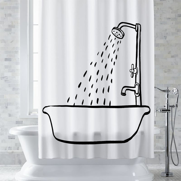 Bath Tub Shower Curtain