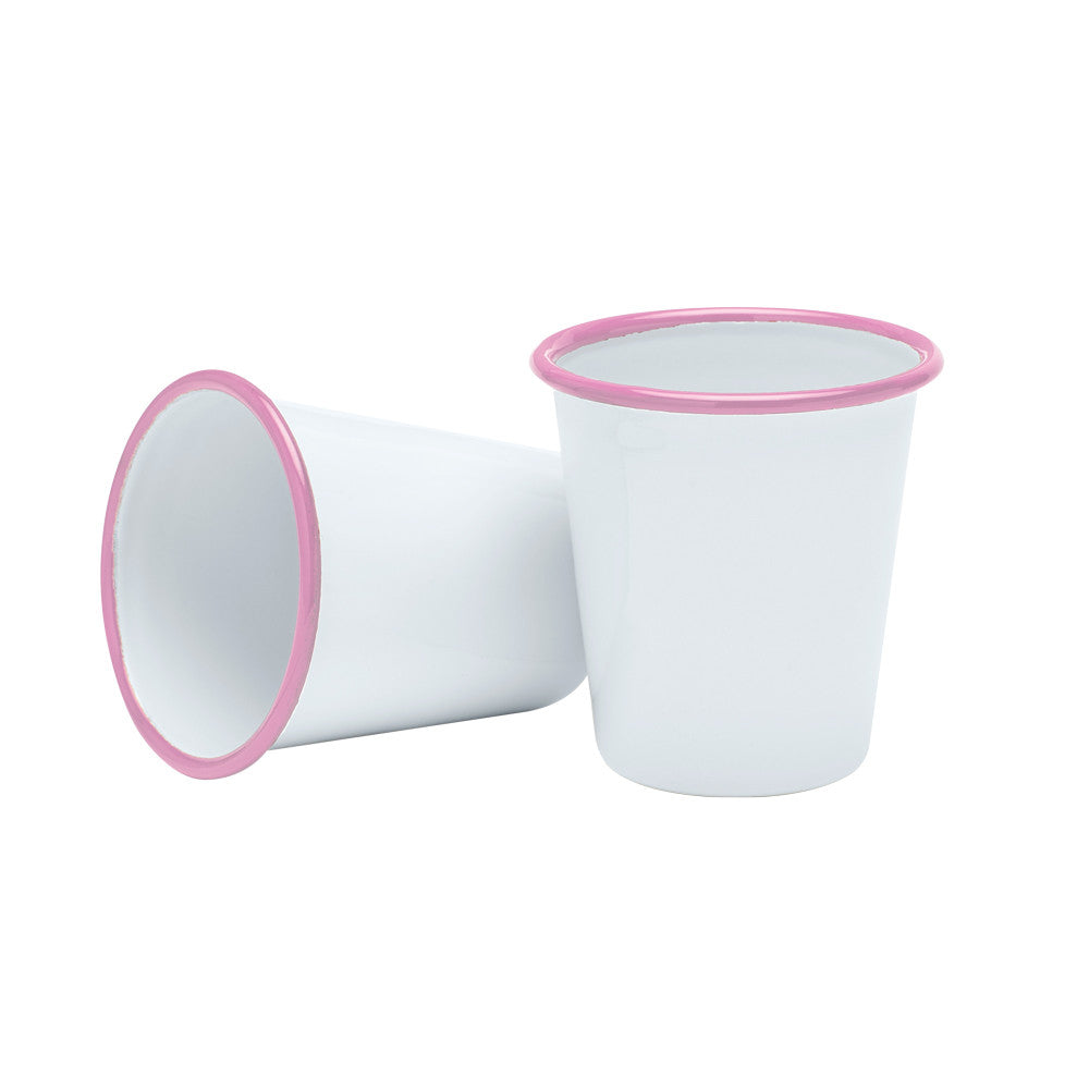 Pink Rim 10oz Tumbler - Set of 4