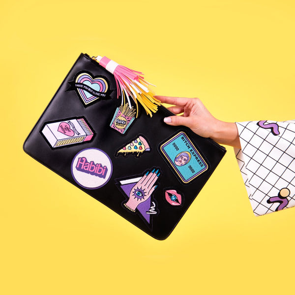 Patches Clutch Bag