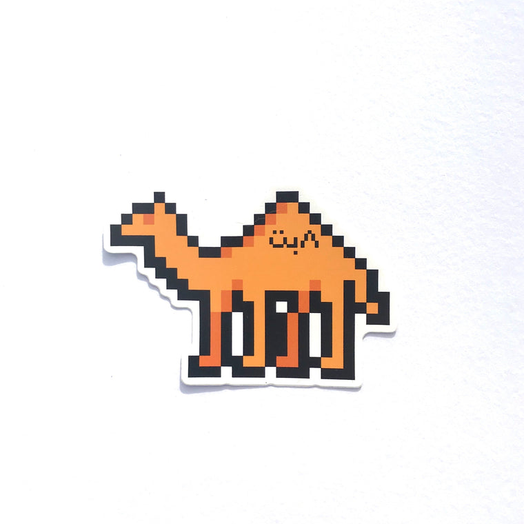 8bit Camel Sticker