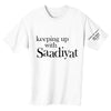 KEEPING UP WITH SAADIYAT t-shirt