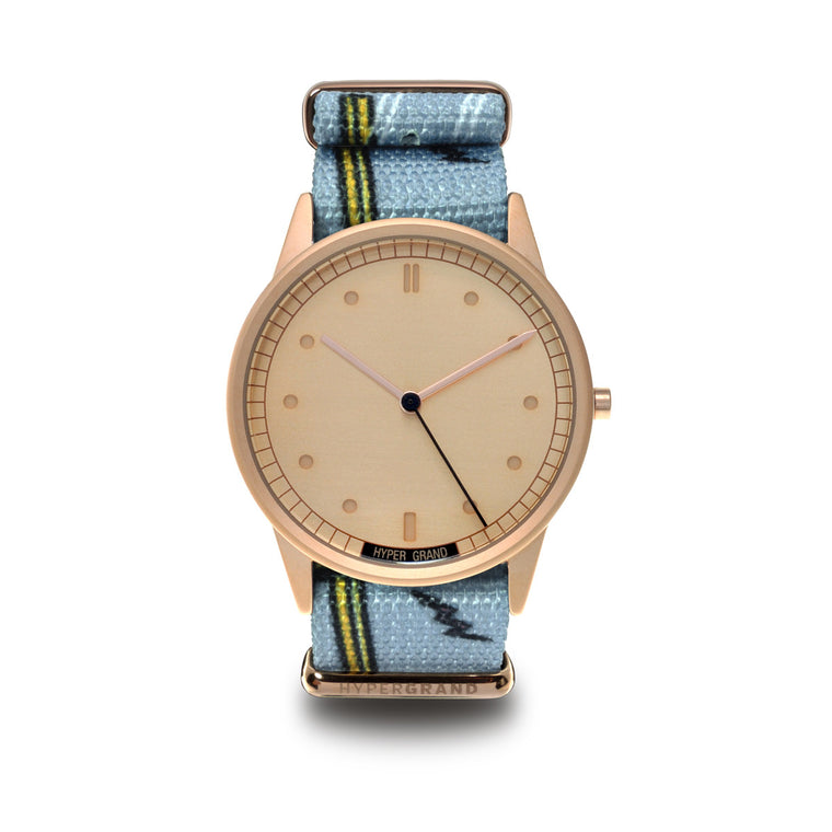 01NATO Rose Gold - Highline watch