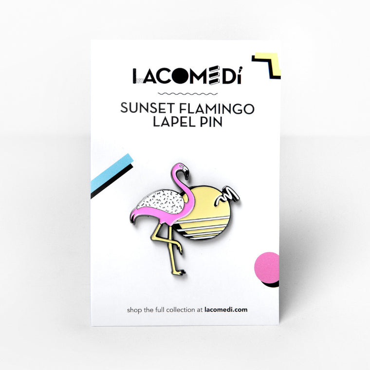 Sunset Flamingo Pin