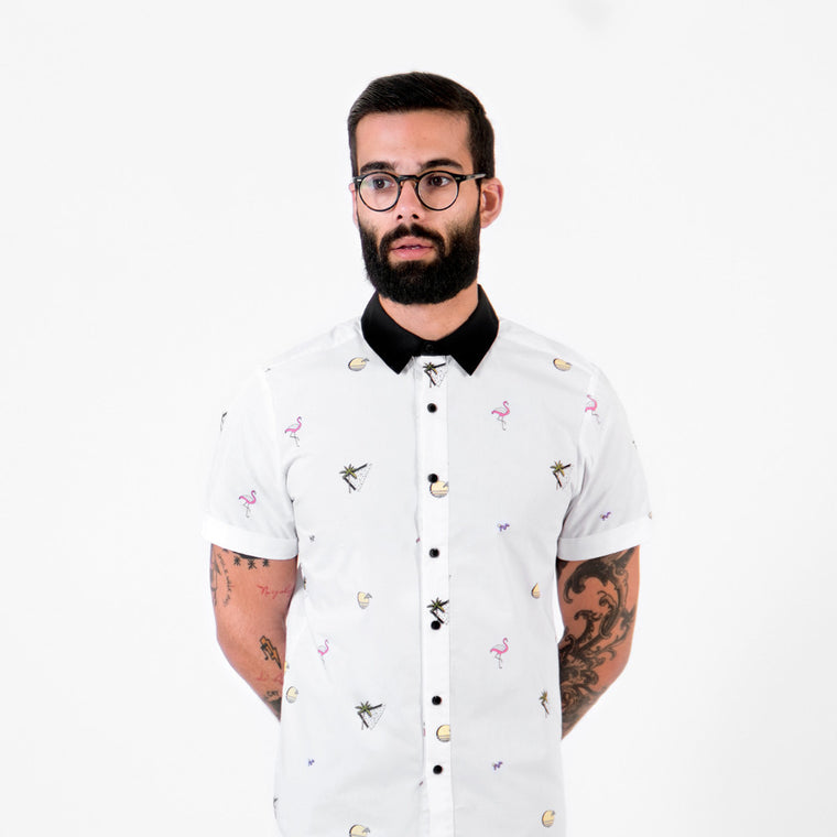 Sunset Flamingo Shirt