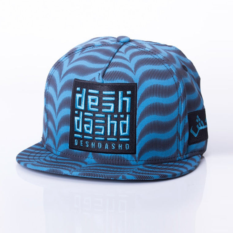 Sea Blue Ghutra Buckle Hat