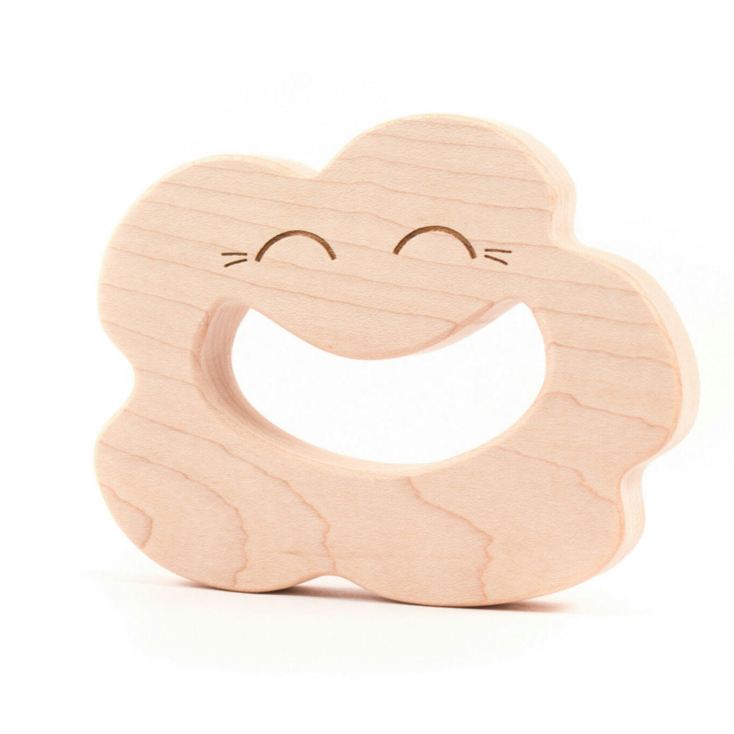 Wooden Teether - Smiling Cloud