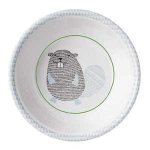 Bloomingville - The Noah Beaver - Plate (White/Blue)