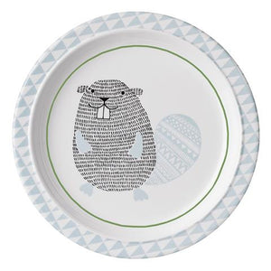 Bloomingville - The Noah Beaver- Plate (White/Blue)