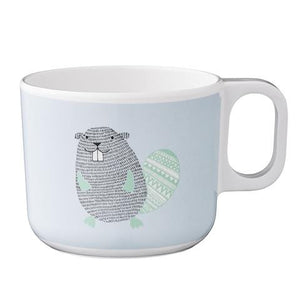 Bloomingville - The Noah Beaver- Cup (White/Blue)