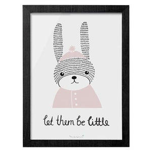 """Let Them Be Little"" - Wooden Frame Decor for Playroom by Bloomingville"
