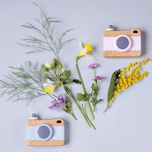 Wooden Camera Toy - Pink