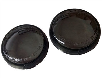 6204-04 Bullet Style Smoke Turn Signal Lenses (PAIR)