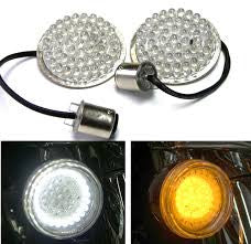 "9500-58 Bullet Style White LED DRL w/ Amber Turn Signals (PR) ""HALOZ"""