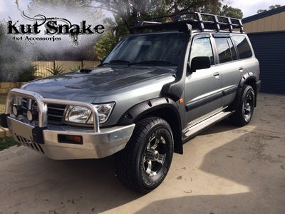 Kut Snake | Nissan Patrol GU Series 1 2 3, (1997 - 2004) | Fender Flares Front Set - Big Rig 4x4 Auto & Superstore, QLD, Queensland, Australia, Underwood, Brisbane Flare Kits - 4WD, 4x4, Accessories, Performance Upgrades, Suspension,  Exterior, Tyres, Lift Kits, Offroad, Kut Snake - Legendex, Ridepro