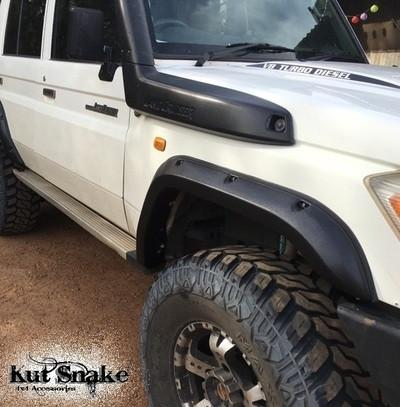 Kut Snake | Toyota Landcruiser Series 76 ABS (2007 - On) | Fender Flares Front Set - Big Rig 4x4 Auto & Superstore, QLD, Queensland, Australia, Underwood, Brisbane Flare Kits - 4WD, 4x4, Accessories, Performance Upgrades, Suspension,  Exterior, Tyres, Lift Kits, Offroad, Kut Snake - Legendex, Ridepro