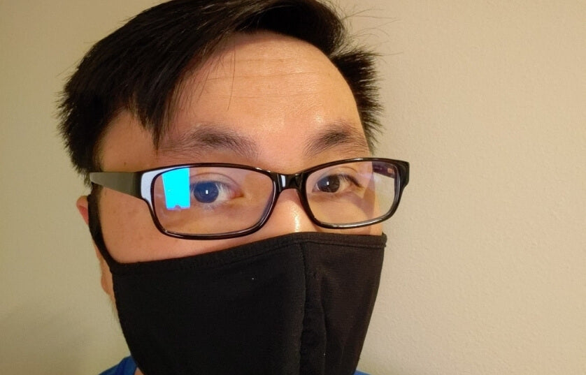 eric makes sures he stays protected with Umizato blue light glasses