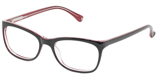 Charlotte Black Red Prescription Glasses at Umizato