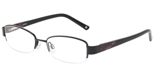 Cebu Jet Black Half-Rim Prescription Glasses at Umizato