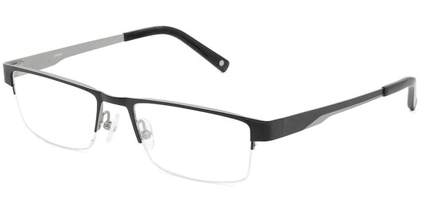 Fuji Titanium Black Silver Half-Rim Prescription Glasses at Umizato