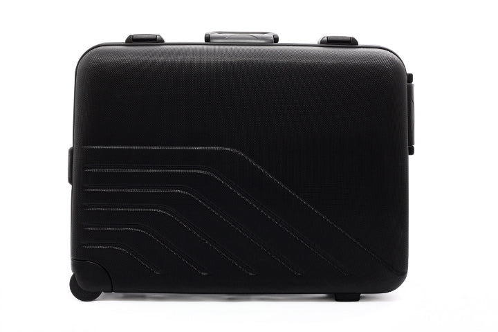 Black carbon fiber suitcase