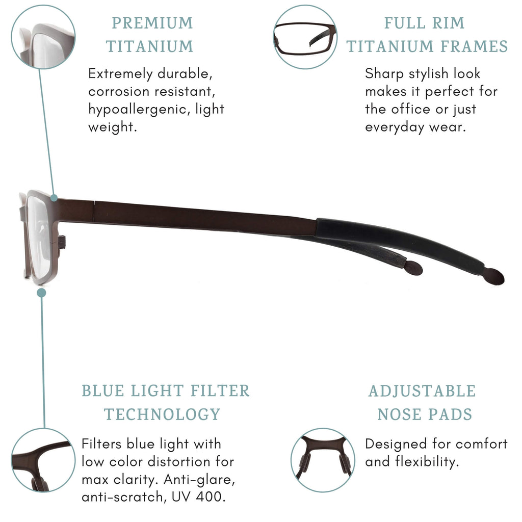 K2 blue light blocking glasses features infographic.