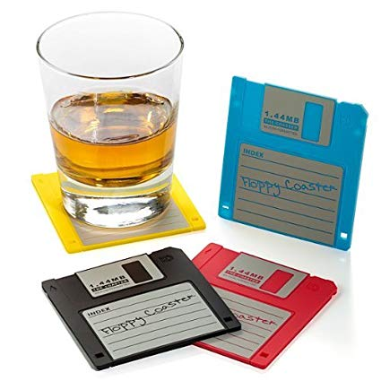 Floppy Disk Coaster for the Techy Nerd