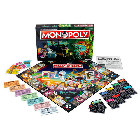 Nerdy Rick and Morty Monopoly Game