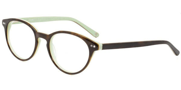 Manila Tortoise Mint Round Full Rim Prescription Glasses at Umizato