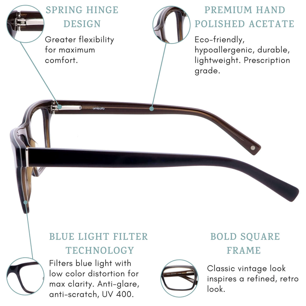 brighton blue light blocking glasses features infographic