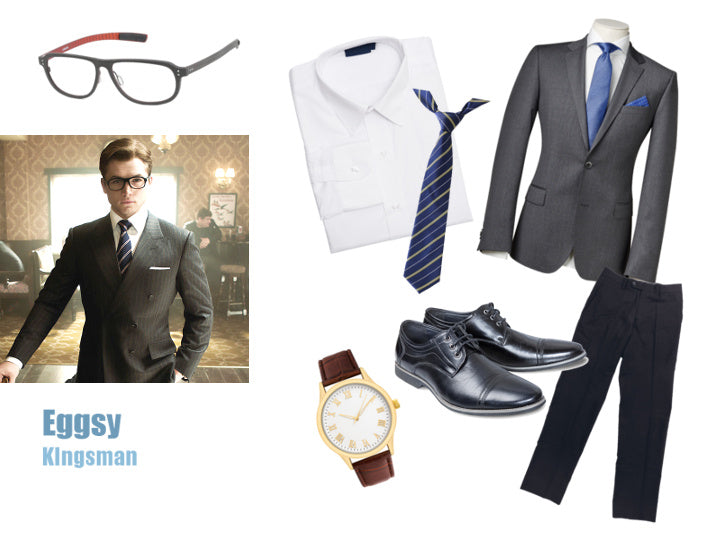 Eggsy Unwin from Kingsman Halloween Costume Ideas Black Glasses