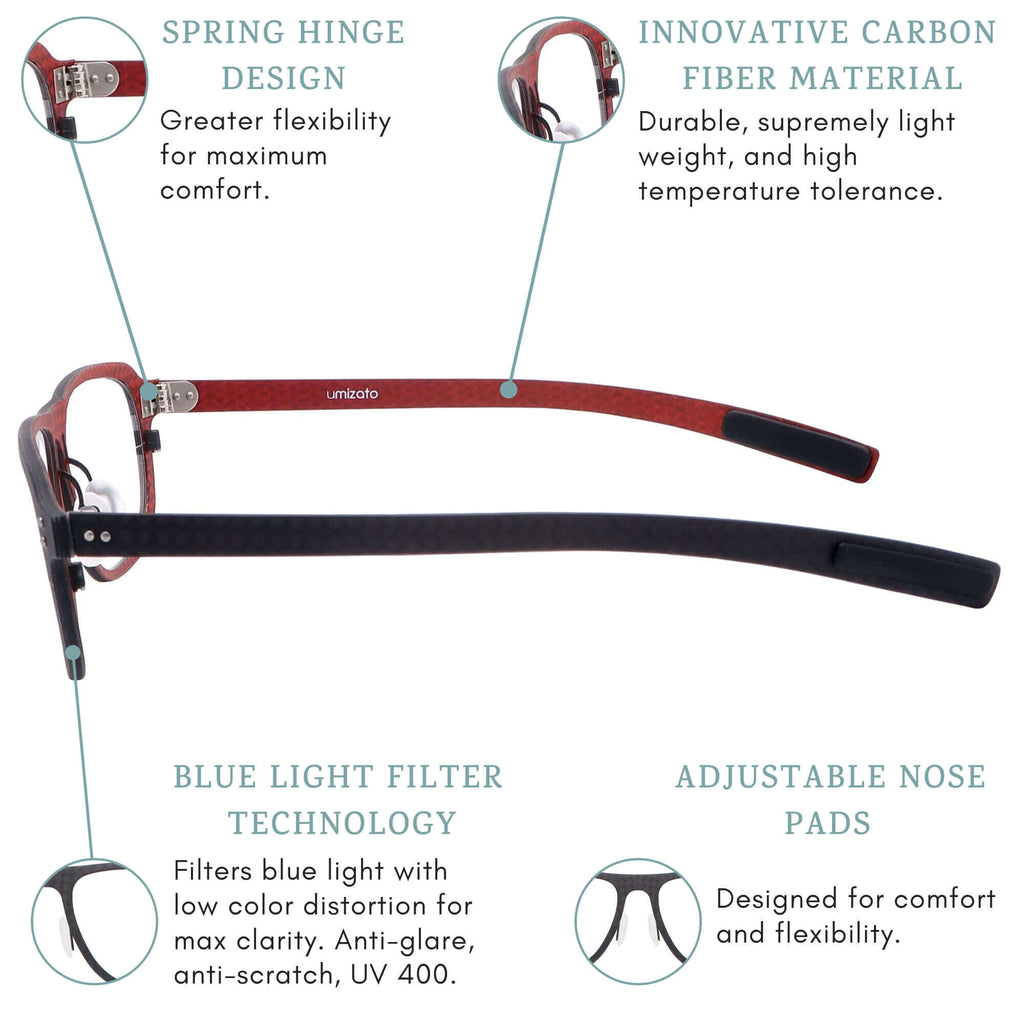 nebula blue light blocking glasses features infographic.