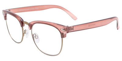 Arden Rose Gold Computer Glasses front side