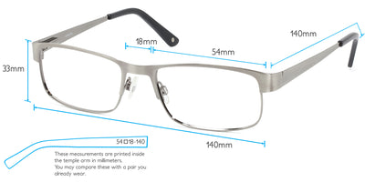 Austin Computer Gaming Glasses Frame Measurements