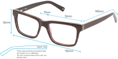 Brighton Computer Gaming Glasses Frame Measurements