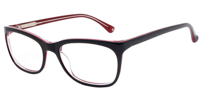 Charlotte Black Red Computer Glasses front side