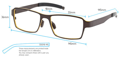 Everest Computer Gaming Glasses Frame Measurements