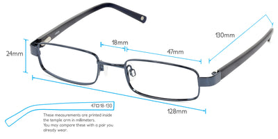 Faraday Computer Gaming Glasses Frame Measurements