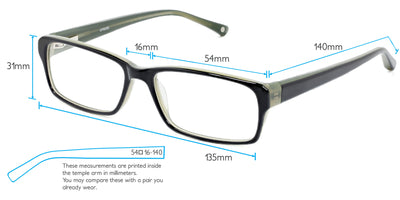 Hamburg Computer Gaming Glasses Frame Measurements