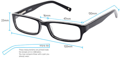 Hiawatha Computer Gaming Glasses Frame Measurements