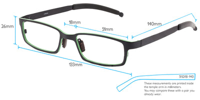 K2 Computer Gaming Glasses Frame Measurements