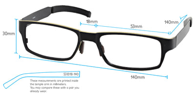 Kilimanjaro Computer Gaming Glasses Frame Measurements