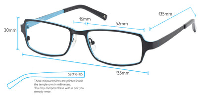 Matterhorn Computer Gaming Glasses Frame Measurements