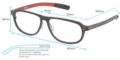 Nebula Computer Gaming Glasses Frame Measurements