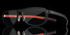 Nebula Black Sangria Computer Glasses front side dark